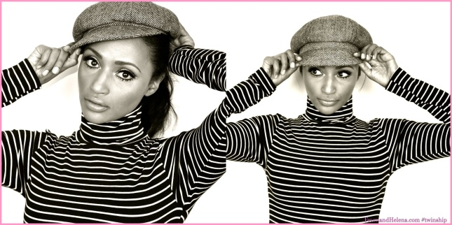 Helena is wearing: American Apparel black & white turtle neck, vintage hat, Lipstick: Opera Rose YSL