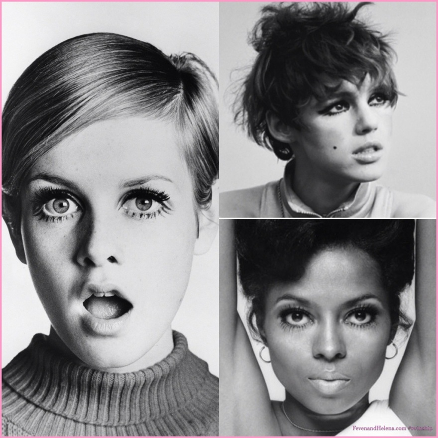 left to right: Twiggy, Edie Sedgwick and Diana Ross do mod.