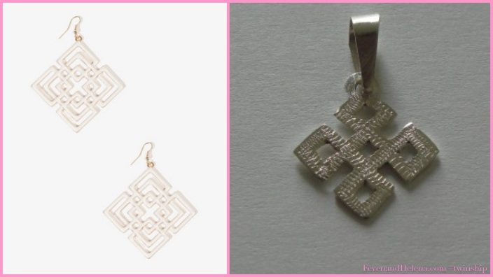 Forever 21 Square Pattern Earrings $5.80 | Eritrean Cross Necklace