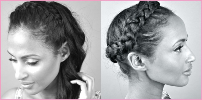 Feven (left), Helena (right) wearing a Halo Braid 2 Ways