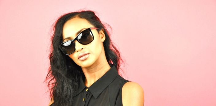 Helena is wearing D&G Sunglasses