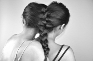 The Twinship Braid by Amber Nicholle. Feven (left), Helena (right)