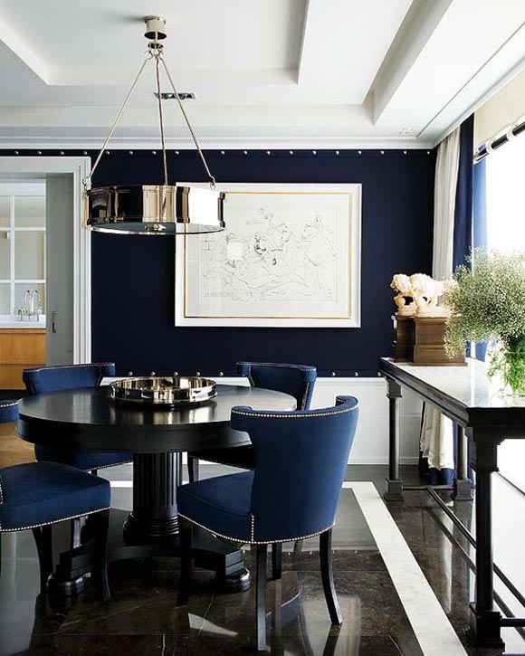 Navy Blue Room Magnificent Of Navy Blue Dining Room Images