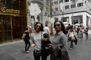 Feven (L), Helena (R) around the Today show....