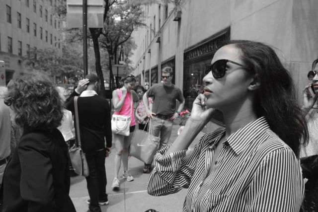 Helena in NYC: D&G sunnies, H&M blouse