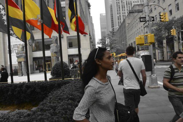 Feven in Rockefeller Center: H&M blouse