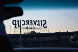 driving around the city