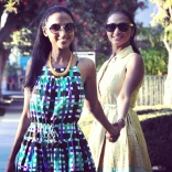 Feven (L) and Helena (R) - Duro Olowu for jcp