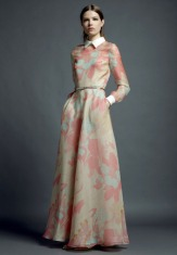 Valentino Resort 2013 | Floral Long Sleeve Gown Profile