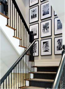 black & white interiors | staircase