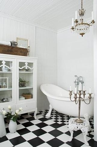 black & white interiors | bathroom