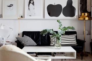 black & white interiors | living room