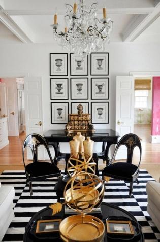 black & white interiors | entry/living