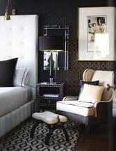 black & white interiors | den