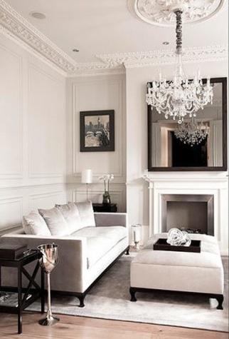black & white interiors |living room