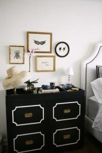 black & white interiors | bedroom