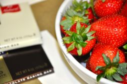 Step Two: Place strawberries in a dry bowl and make sure to take a picture of what you're making for Instagram! (HA!)
