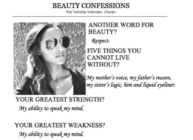Feven's Beauty Confession 1