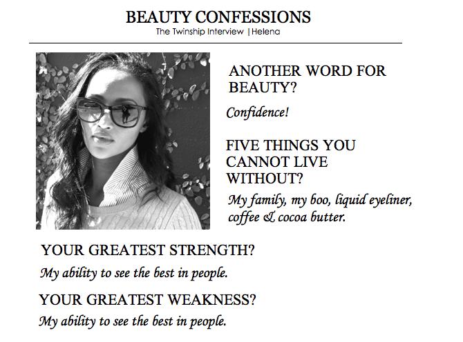 Helena's Beauty Confession