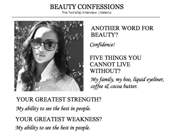 Helena's Beauty Confession