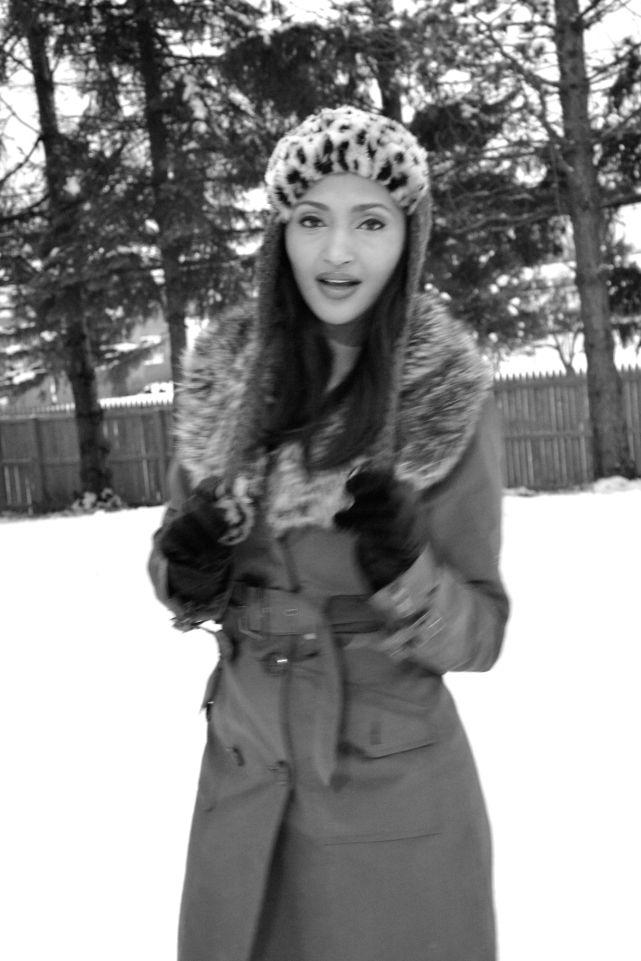Helena posing in snow!