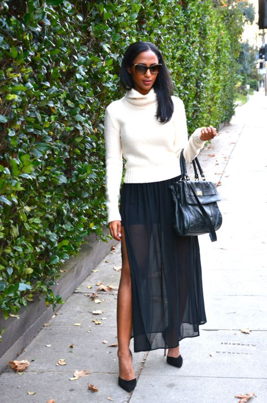 Feven is wearing… sweater: vintage Ralph Lauren skirt: Forever 21 heels: Zara sunglass: Fendi  watch: Michael Kors