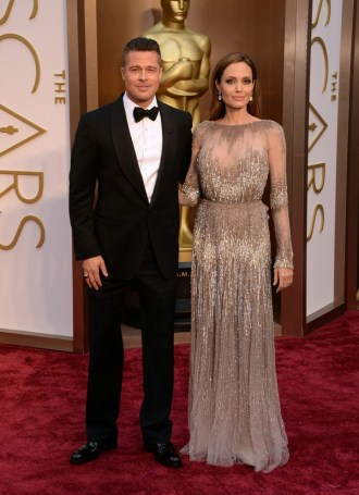 Brad Pitt and Angelina Jolie in Elie Saab