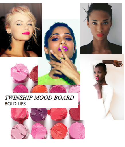 Twinship Mood Board | Bold Lips