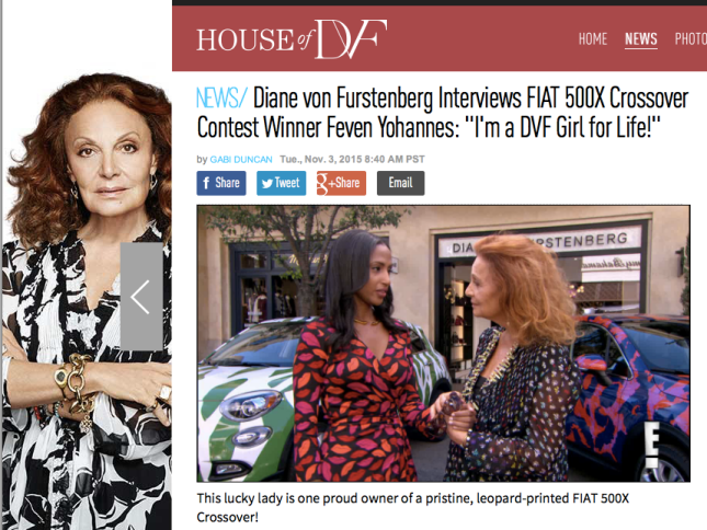 dvf x e! news interview